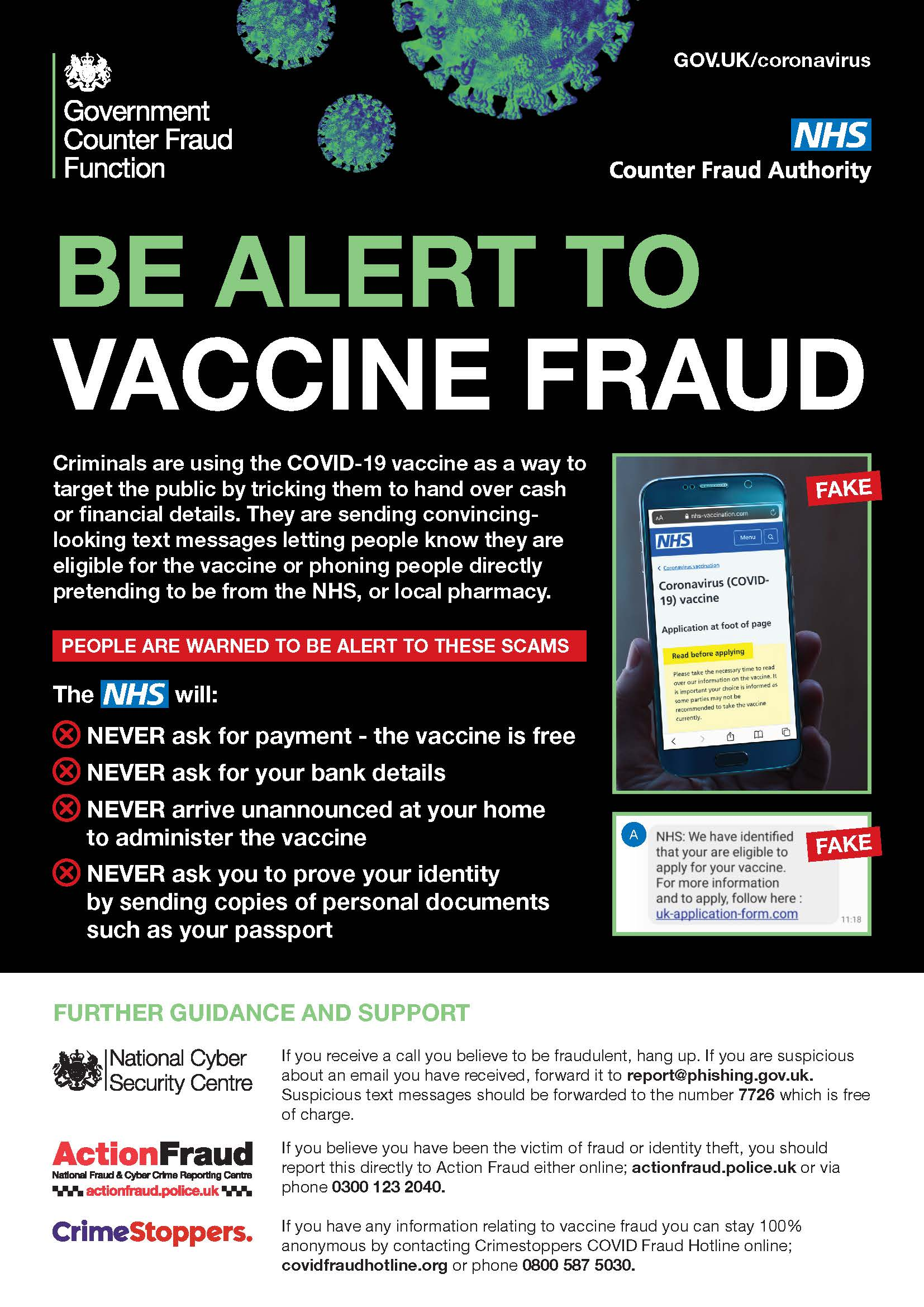 COVID vaccination fraud